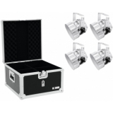 EUROLITE Set 4x LED PAR-56 RGB sil + Case