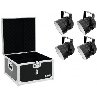 EUROLITE Set 4x LED PAR-56 RGB sw + Case