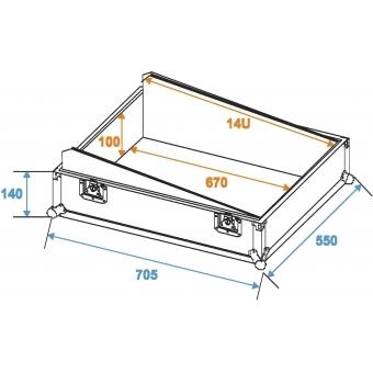 ROADINGER Mixer Case Pro MCB-19 sloping bk 14U #2