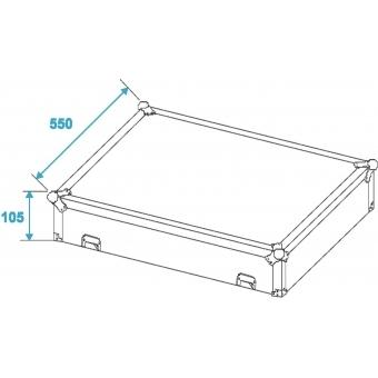 ROADINGER Mixer Case Pro MCB-19 sloping bk 14U #3