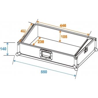 ROADINGER Mixer Case Pro MCA-19, 4U, bk #2