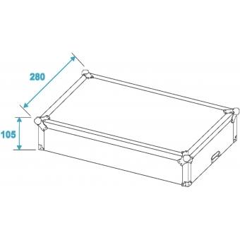 ROADINGER Mixer Case Pro MCA-19, 4U, bk #6