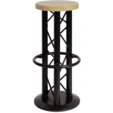 ALUTRUSS Bar Stool with Ground Plate black