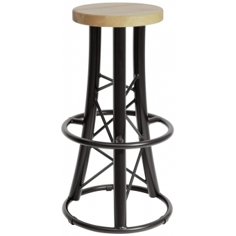 ALUTRUSS Bar Stool, curved black