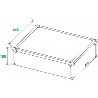 ROADINGER Mixer Case Pro MCV-19, variable, bk 8U #10