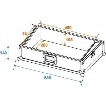 ROADINGER Mixer Case Pro MCA-19-N, 3U, black #6