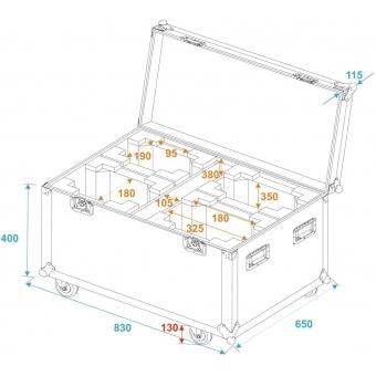 ROADINGER Flightcase 4x DMH-75.i
