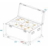 ROADINGER Flightcase 4x DMH-75.i