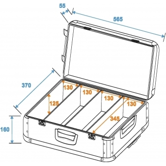 ROADINGER CD Case polished 120 CDs with Trolley #2