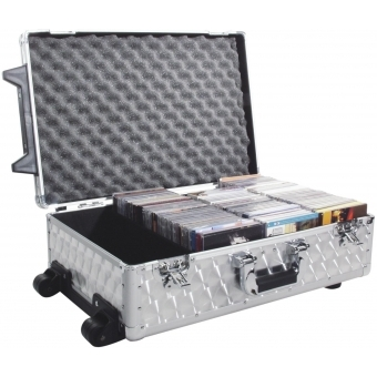 ROADINGER CD Case polished 120 CDs with Trolley #5
