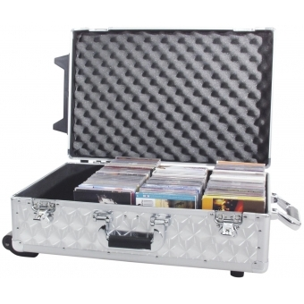 ROADINGER CD Case polished 120 CDs with Trolley #6
