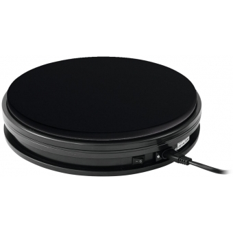 EUROPALMS Rotary Plate 25cm up to 25kg black