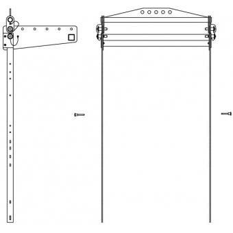 Fly Bar and Bracket for ES systems