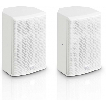 """LD Systems SAT 62 G2 W - 6.5"""" Installation Monitor passive white (pair)"""