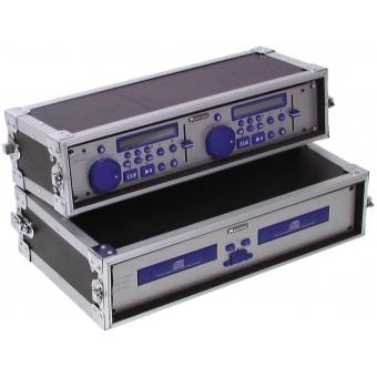 ROADINGER Double CD Player Case Tour Pro, 2U, black #4