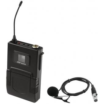 OMNITRONIC UHF-502 Bodypack incl. 823-832MHz Lavalier (CH B oran