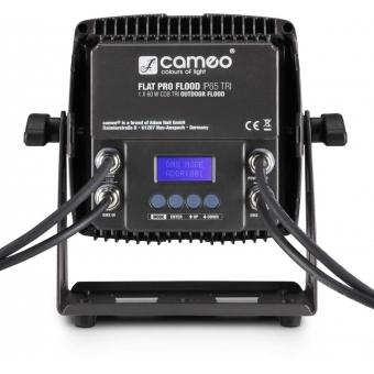 Cameo FLAT PRO FLOOD IP65 TRI - Outdoor Flood Light with 60 Watt Tri-Color COB LED in black housing #4