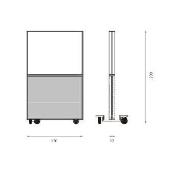Panou acoustic Jocavi Wallblind Glass  200-cu roti #2