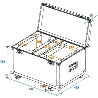 ROADINGER Flightcase 2x TMH-X25 #5