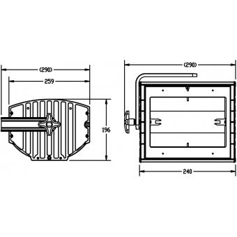 Elation TF500-S 0,5kW symmetric Theater Flood #2