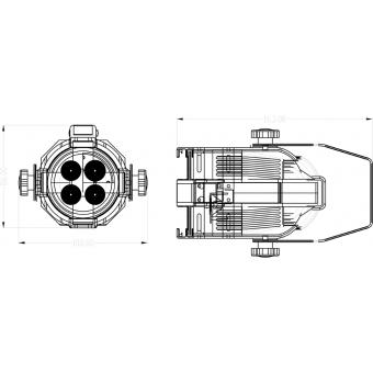 Elation Opti PAR 16 LED 4x1W cw/25 silver #7