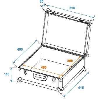 ROADINGER Universal Case FOAM,GR-1 alu #2