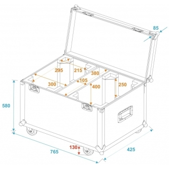 ROADINGER Flightcase 2x TMH-X12 with wheels #5