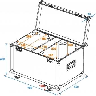 ROADINGER Flightcase 2x TMH FE-1800 #6