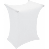 EUROPALMS Cover for Keyboard Stand white