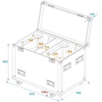 ROADINGER Flightcase 2x PLB-280 #6