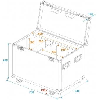 ROADINGER Flightcase 2x PFE-100/120 #5