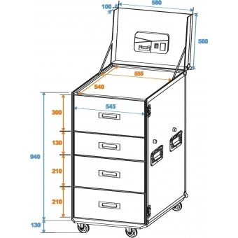 ROADINGER Universal Drawer Case WDS-1 with wheels #2