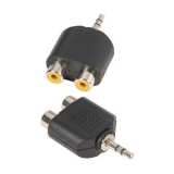 Adaptor 2xRCA mama la jack 3.5mm stereo - Adam Hall 7550