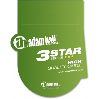 Adam Hall Cables 3 Star Series - MIDI Cable 0.75 m green #2