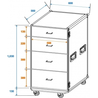 ROADINGER Universal Drawer Case ODS-1 with wheels #2