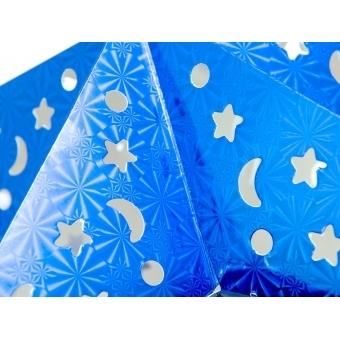 EUROPALMS Star Lantern, Paper, blue, 50 cm #3