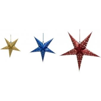 EUROPALMS Star Lantern, Paper, blue, 50 cm #4