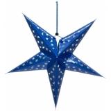 EUROPALMS Star Lantern, Paper, blue, 75 cm