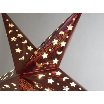 EUROPALMS Star Lantern, Paper, red, 40 cm #4
