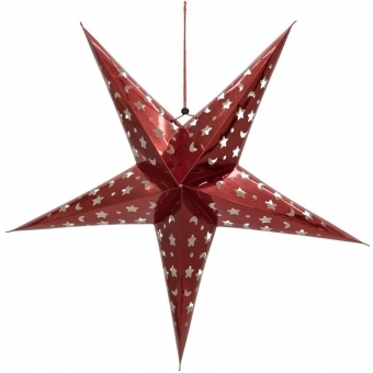 EUROPALMS Star Lantern, Paper, red 50 cm