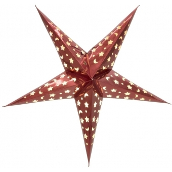 EUROPALMS Star Lantern, Paper, red 50 cm #6