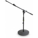Gravity MS 2212 B - Short Microphone Stand With Round Base And 1-Point Adjustment Telescoping Boom