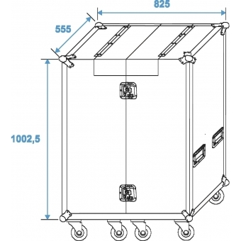 ROADINGER Universal Roadie Case Double Drawer DD-1 #9