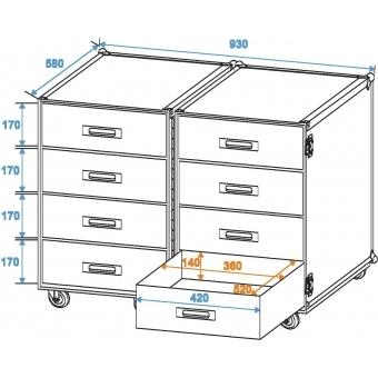 ROADINGER Universal Roadie Case Double Drawer DD-2 #2