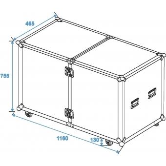 ROADINGER Universal Roadie Case Double Drawer DD-2 #6