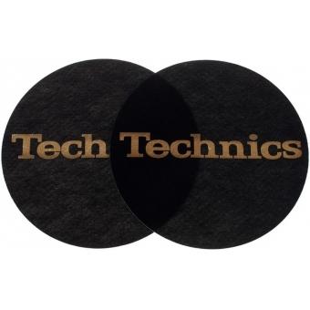 Slipmat Black/Gold Logo Technics