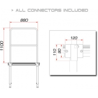 GUIL TMQ-01/440 Stage Rail 88cm (Aluminium Version)