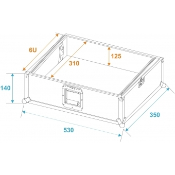 ROADINGER Mixer Case Pro MCV-19, variable, bk 6U #5