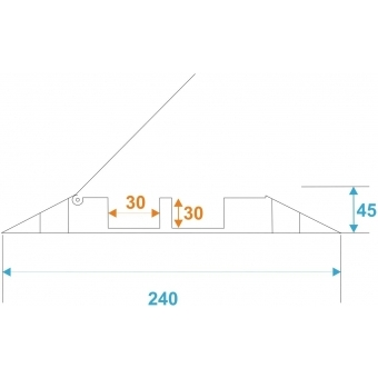 EUROLITE KB-2 Cablebrigde 2 Channels 1010x240x45mm #7