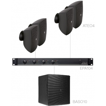 FESTA4.5E/B - Small Foreground Set 4x Ateo4 + Baso10 & Epa104 - Black